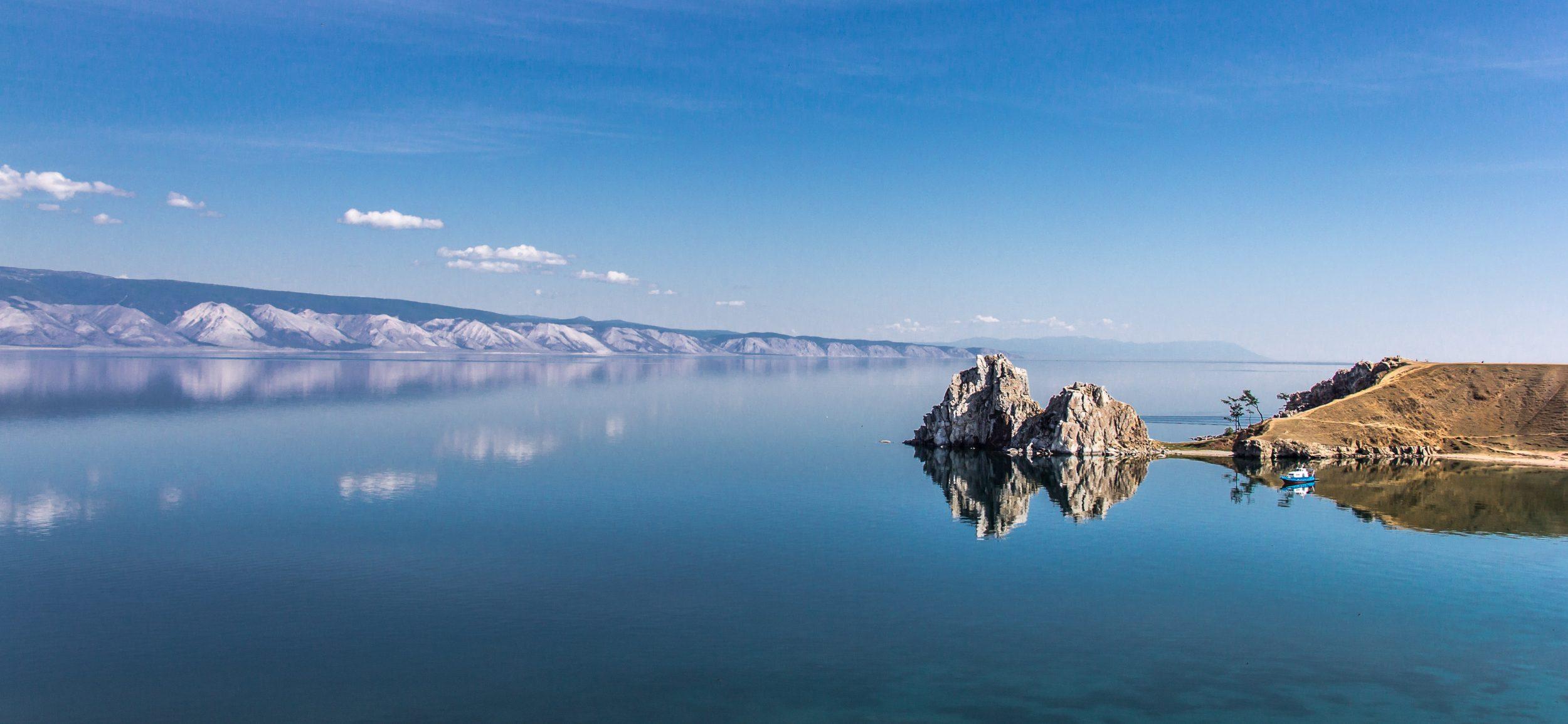 L'île d'olkhon sur le lac Baïkal