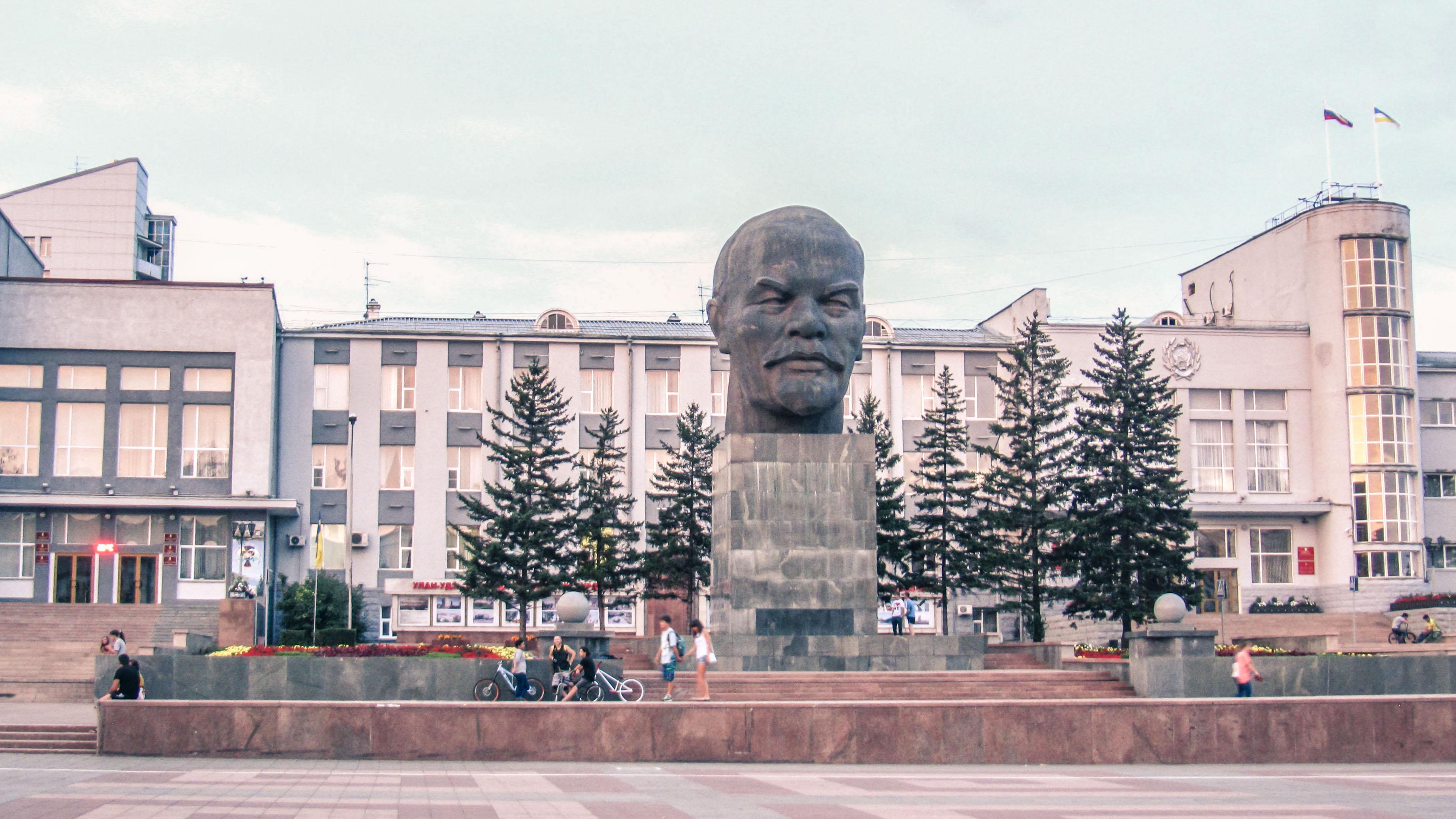 Place Lenin à Oulan-oudé