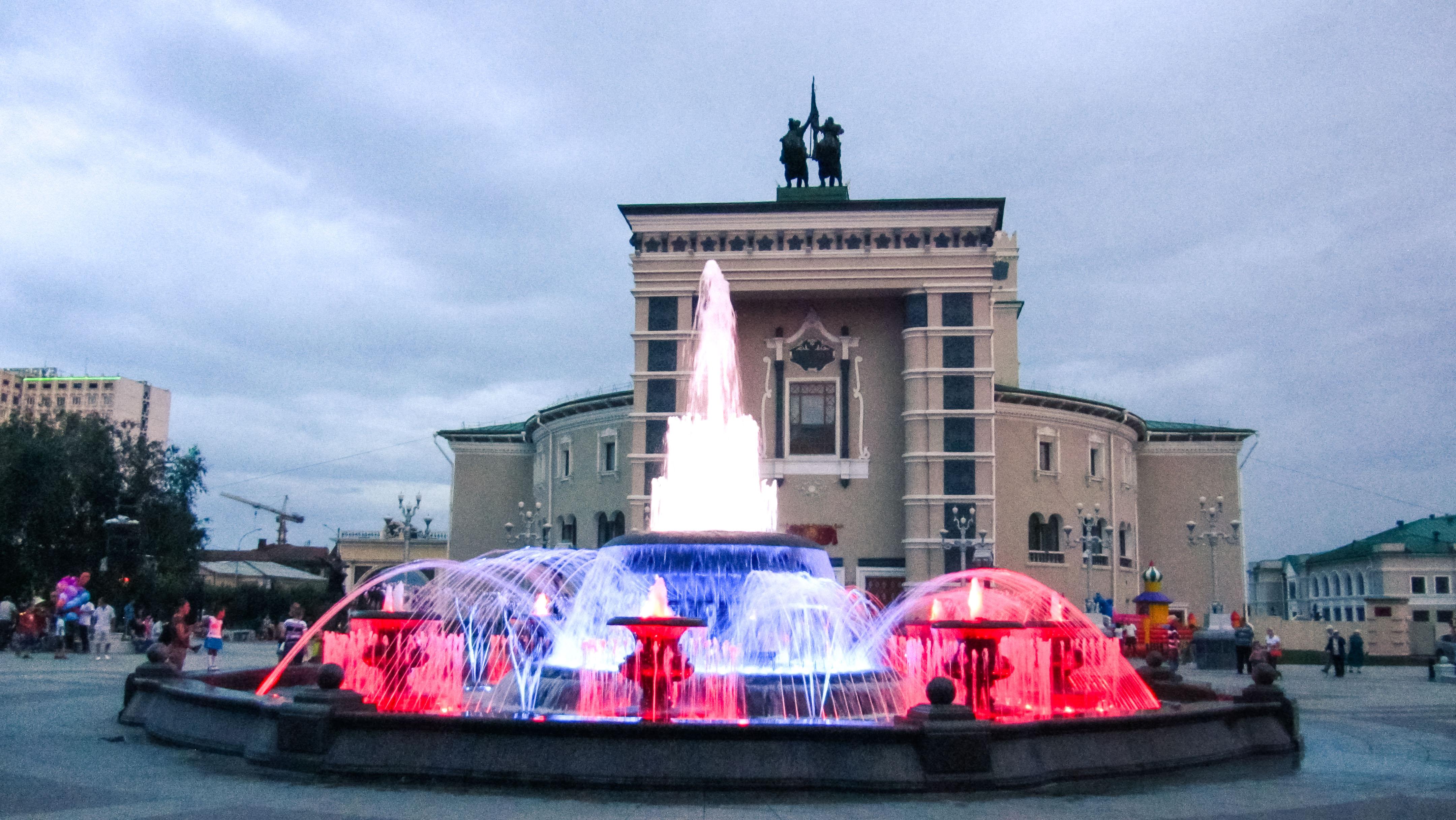 Place de l'opéra à Oulan-Oude