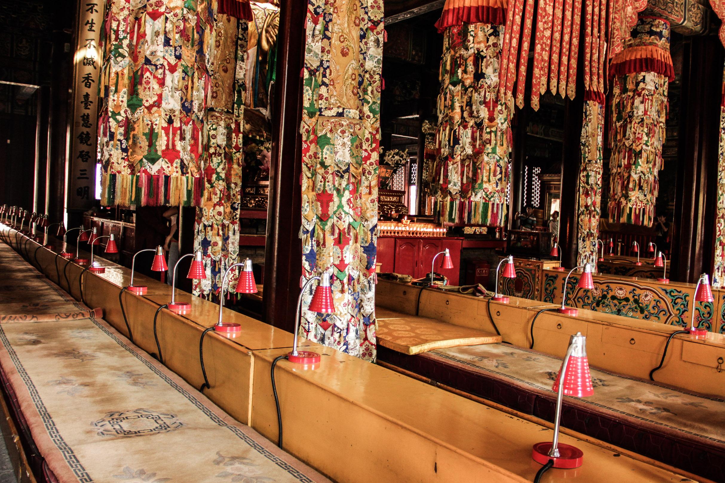 Intérieur du temple du Lama