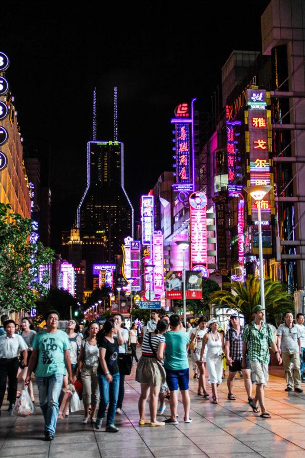 Nanjing Road de nuit, Shanghai
