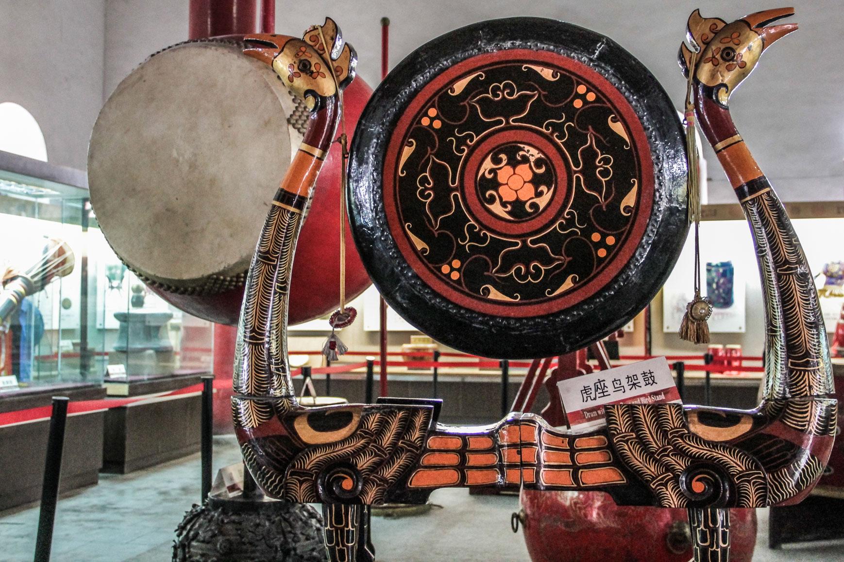 Instrument dans le musée de la Tour du Tambour à Xi'an