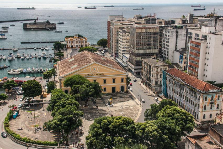 Vu sur le port de Salvador depuis le Pelourinho