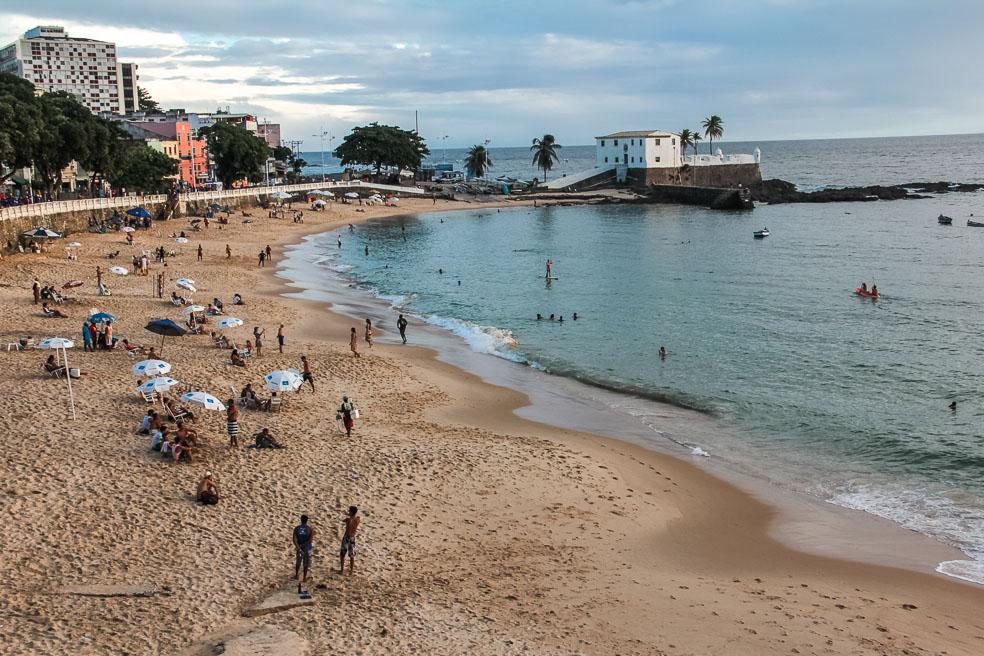 Plage do Porto da Barra à Salvador de Bahia