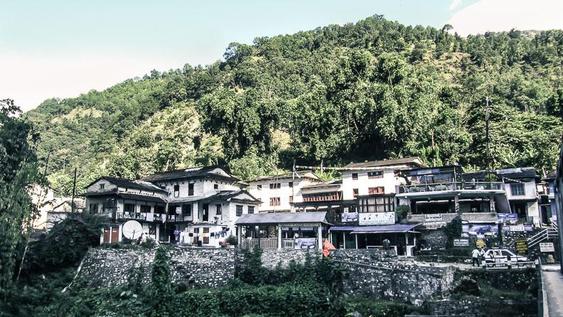 Le village de Birethanti, sur le trek de Poon-Hill, Népal