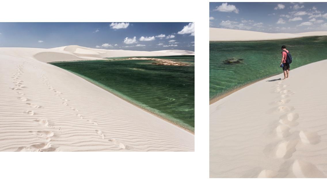 Dunes et lagunes verdoyantes des Lençóis Maranhenses. Route des Sensations - Brésil.