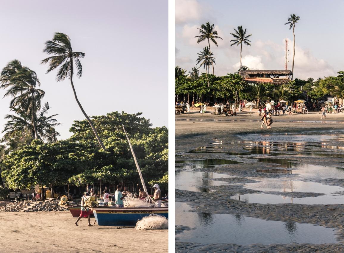 La plage du village de Jericoacoara. Sur la Route des Sensations.