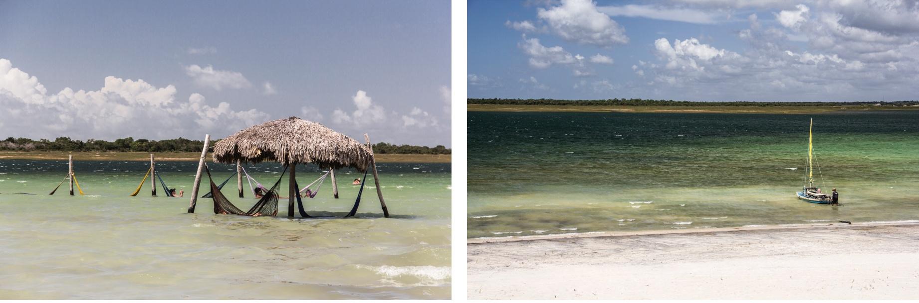 Laguna du Paraíso (Lagune du Paradis) dans les dunes de Jericoacoara. Route des Sensations.