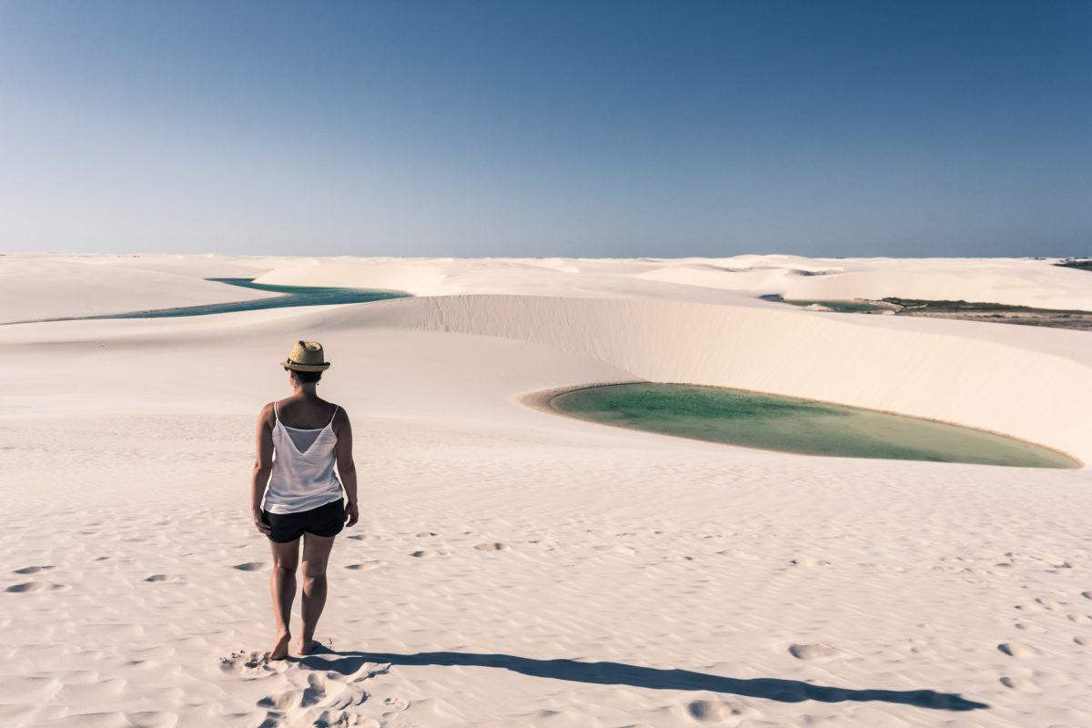 Balade dans les dunes des Lençois Maranhenses.