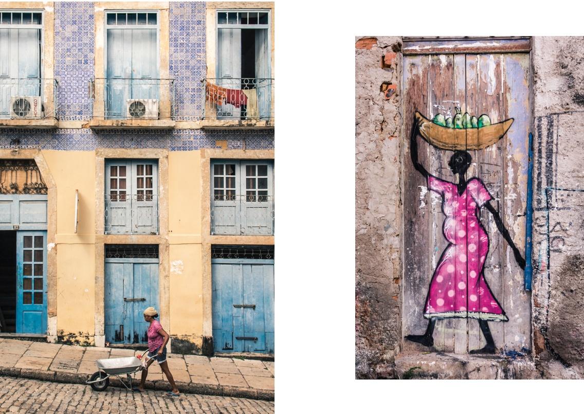 Scènes dans la vieille ville de Sao Luís do Maranhao. Sur la Route des Sensations.