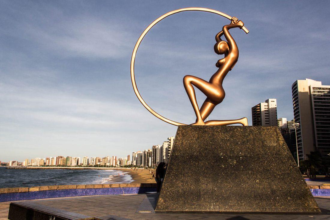 Avenue Beira Mar à Fortaleza - Route des Sensations