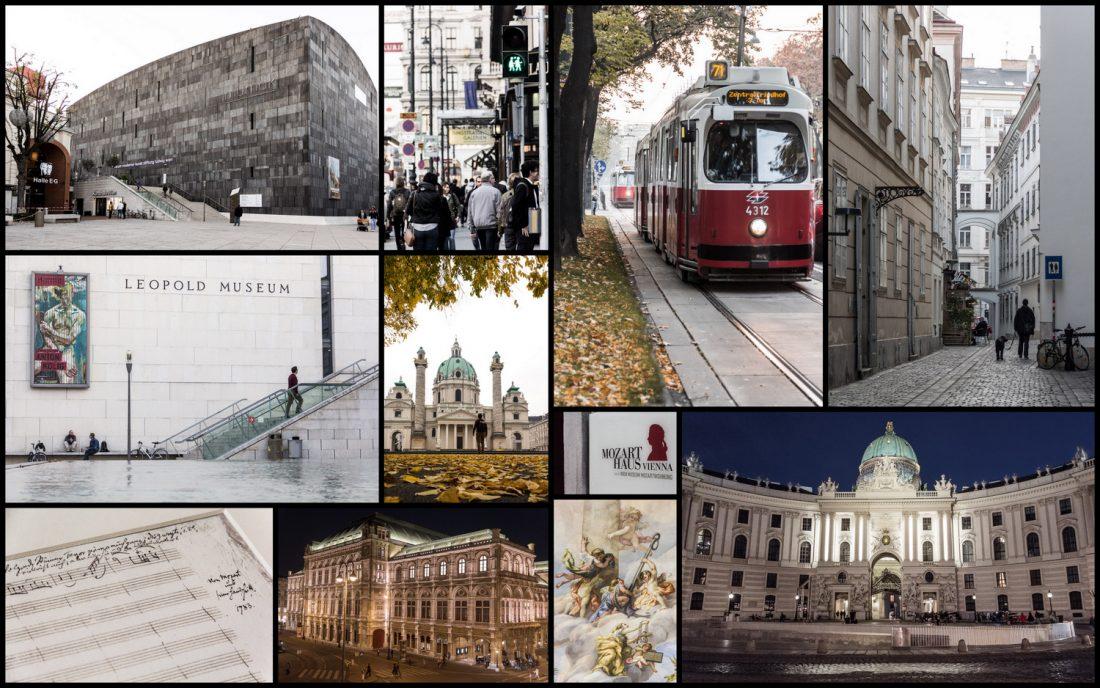 Scenes de la ville de Vienne.