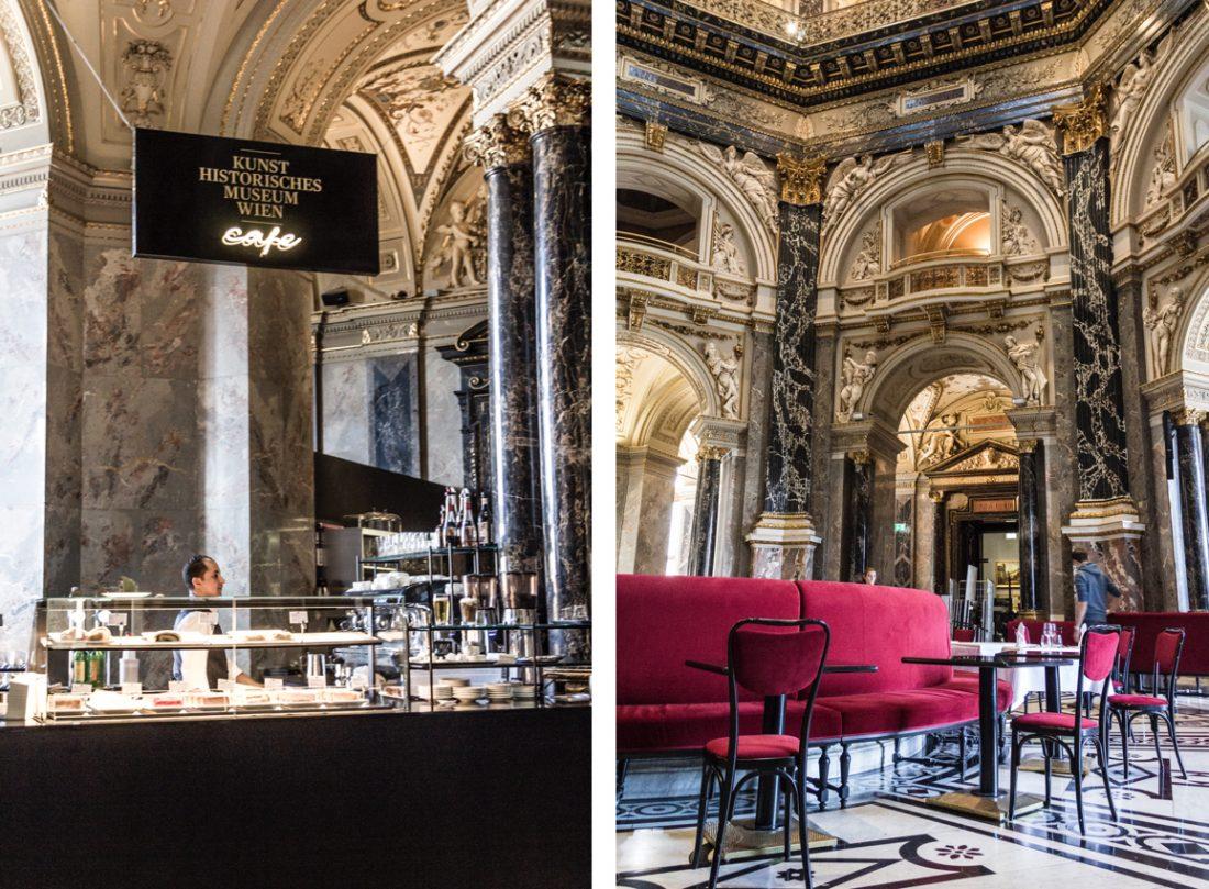 Café du musée de l'histoire de l'art de Vienne.
