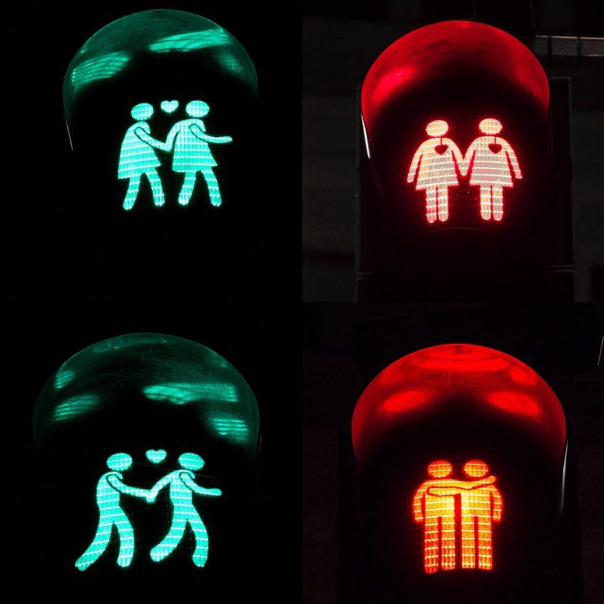 Les feux pour piétons de Vienne pour promouvoir la tolérance sexuelle.