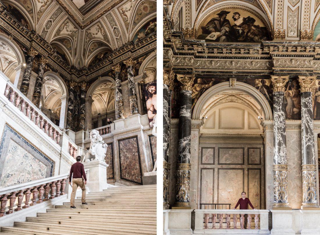 Entrée du musée de l'histoire e l'art de Vienne en Autriche.
