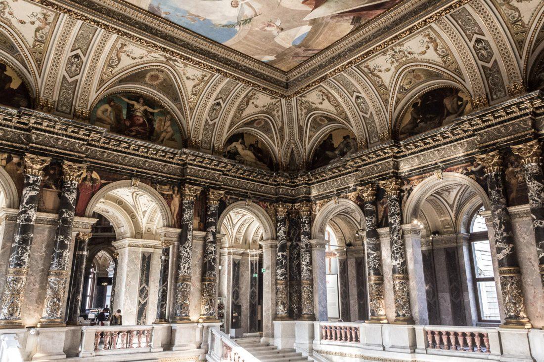 Hall d'entrée du Musée de l'Histoire de l'Art de Vienne.