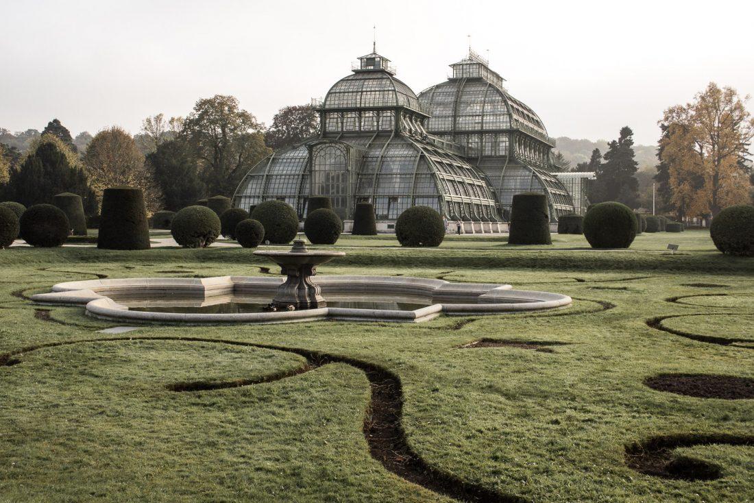 La Serre aux palmiers du Palais de Schonbrunn à Vienne.