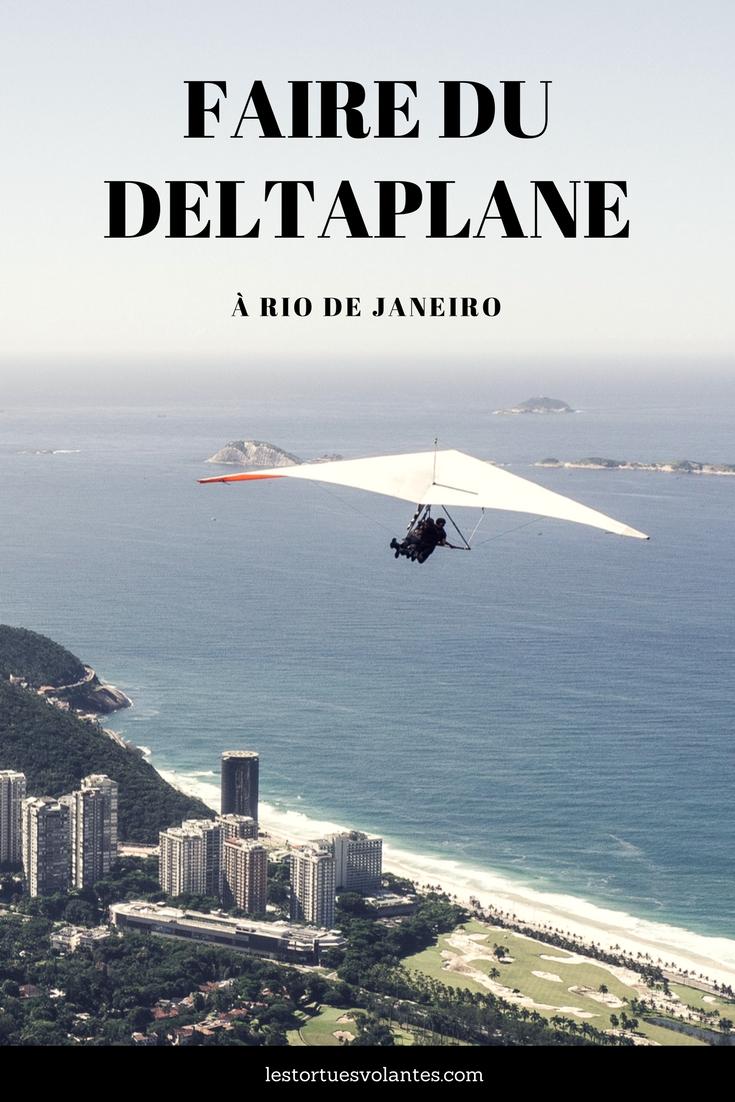 Faire du deltaplane à Rio de Janeiro.
