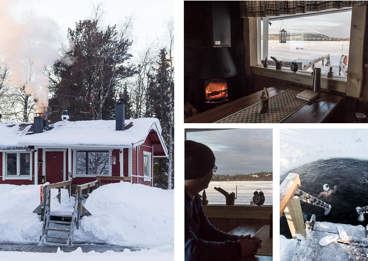 Sauna et ice-swimming en Laponie finlandaise