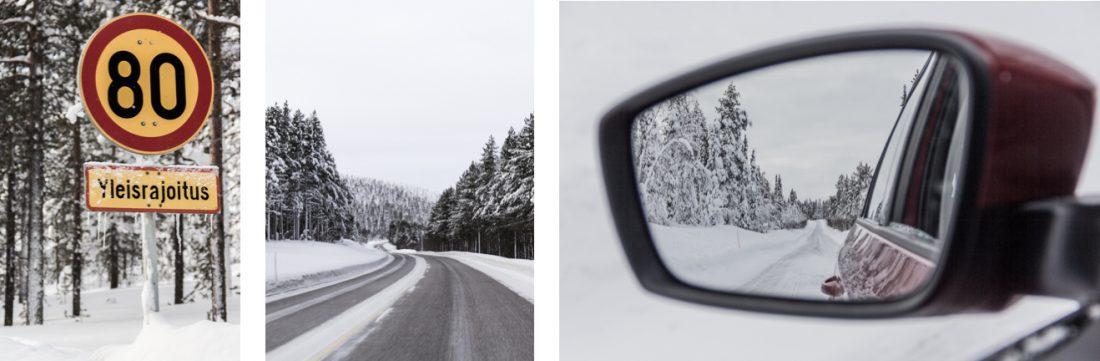 Conduire en Laponie.