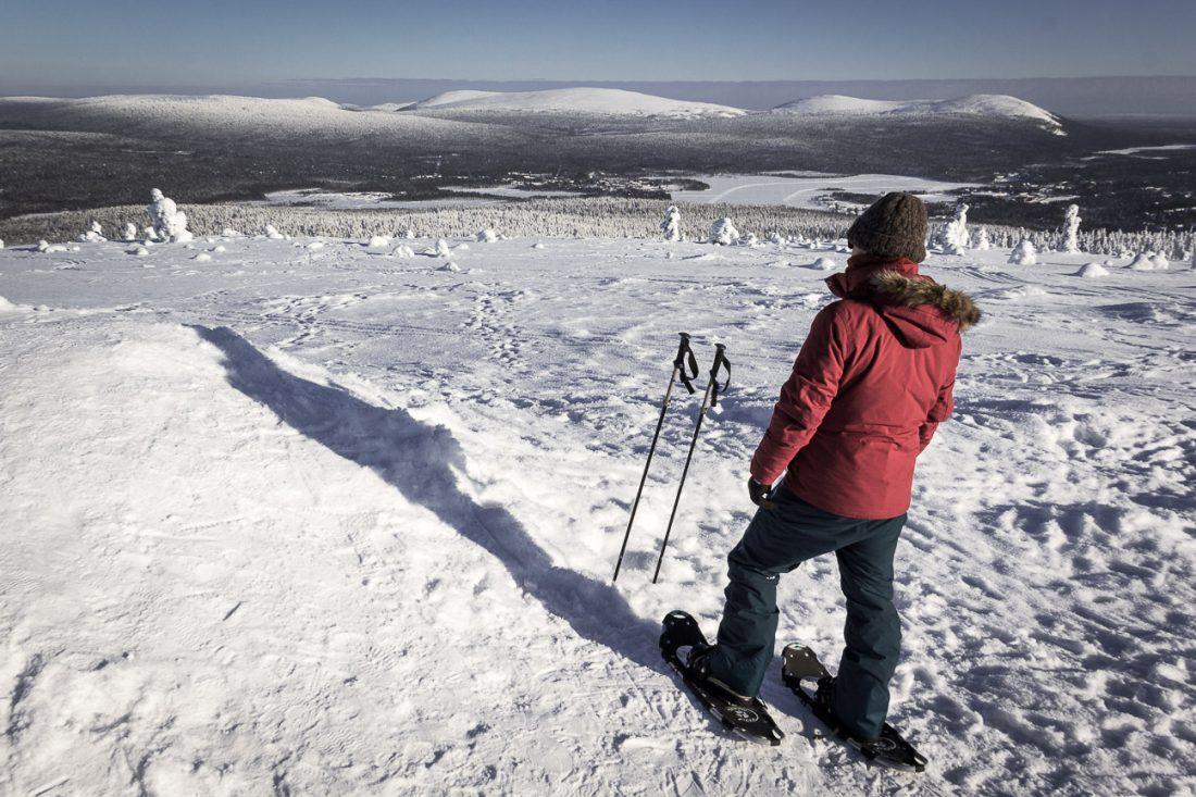 Ski de randonnée en Laponie finlandaise.