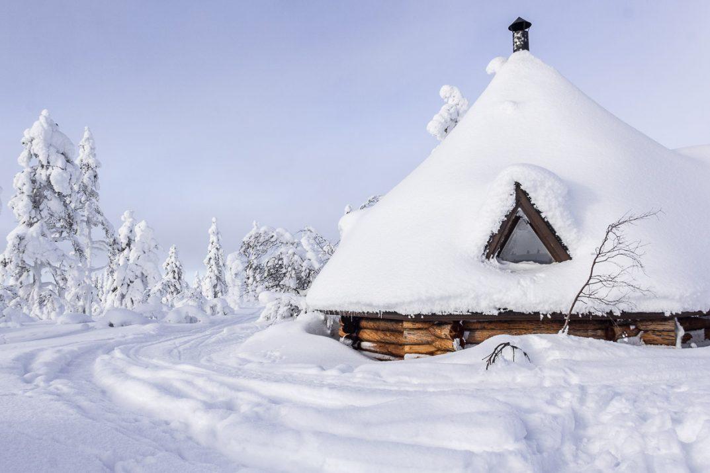 Un refuge de randonnée en Laponie finlandaise.