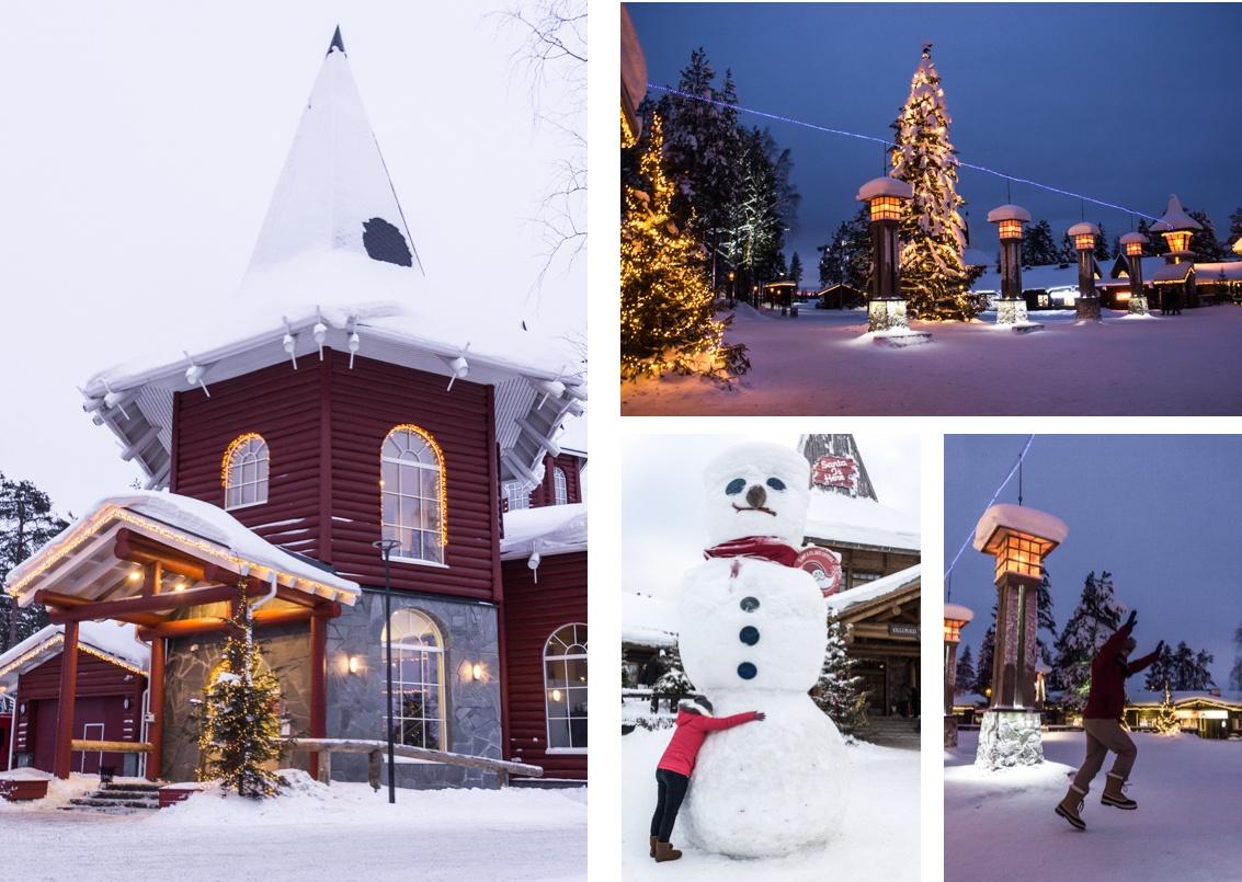Le Village de Noël et le Cercle Polaire Arctique à Rovaniemi. Laponie finlandaise.