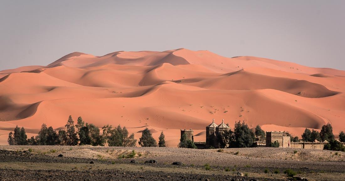 Les dunes de Merzouga. Road trip au Maroc.
