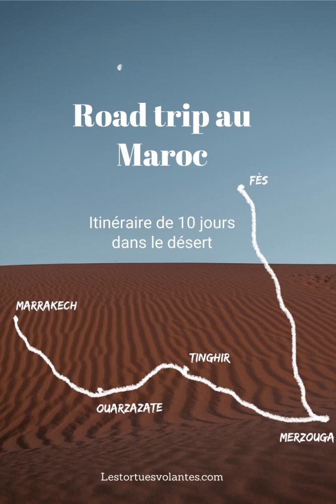 Image Pinterest pour un article sur un road trip au Maroc.